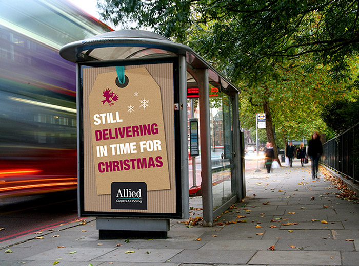 allied carpets christmas outdoor advertising by geco designs