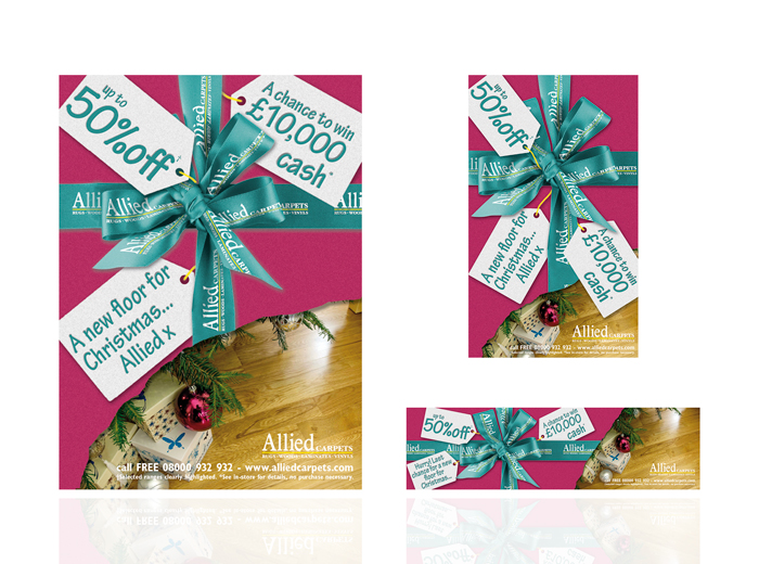 allied national press xmas advertising design