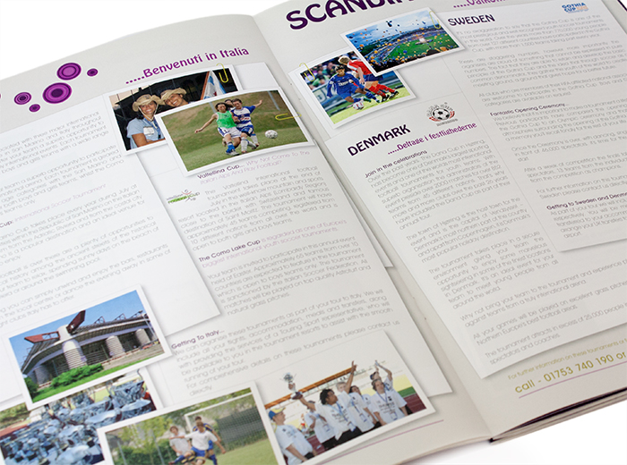 touring sport corporate brochure design by geco designs