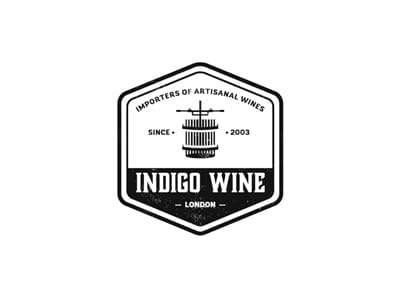 indigo wine logo design